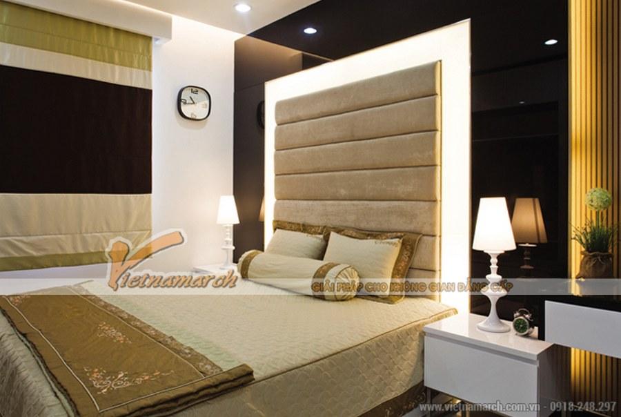 Nội thất phòng ngủ mang đến không gian lãng mạn, ngọt ngào, sâu lắng với màu nâu trầm ấm