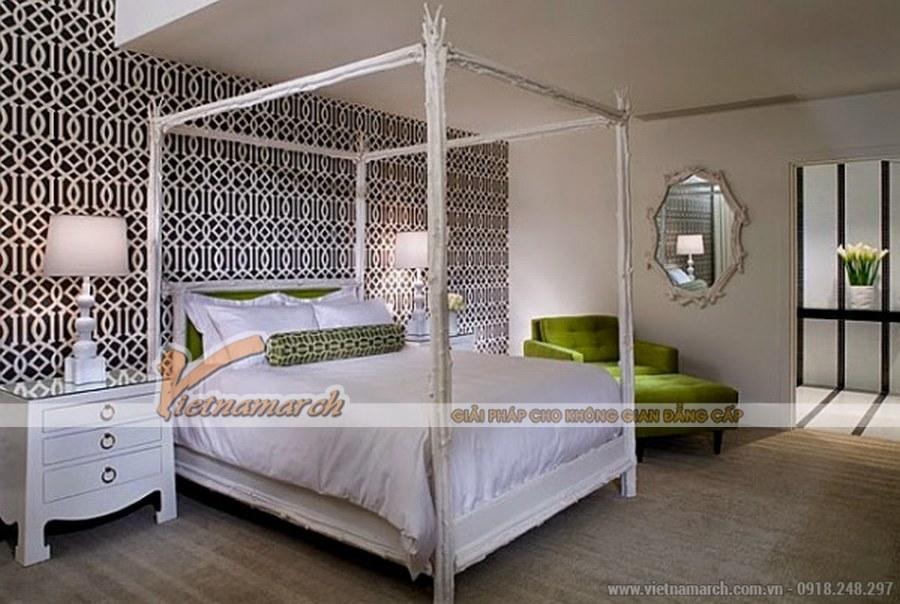 Màu xanh mang đến sức sống và sự sinh động cho phòng ngủ