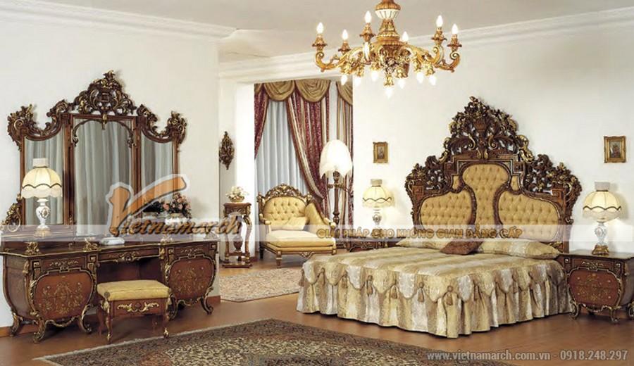 Mẫu thiết kế phòng ngủ đậm phong cách tân cổ điển sang trọng