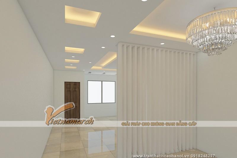 Mẫu trần nhà phòng khách được KTS Phạm Hưng thiết kế