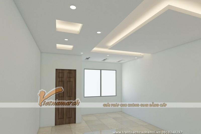 Thiết kế 3D cho trần thạch cao và đèn điện âm trần