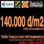 Dịch vụ thi công trần thạch cao Vietnamarch hơn cả sự mong đợi