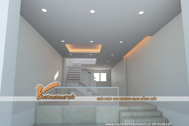 Hình ảnh thiết kế 3D trần và đèn tầng 1 cho nhà anh Luân