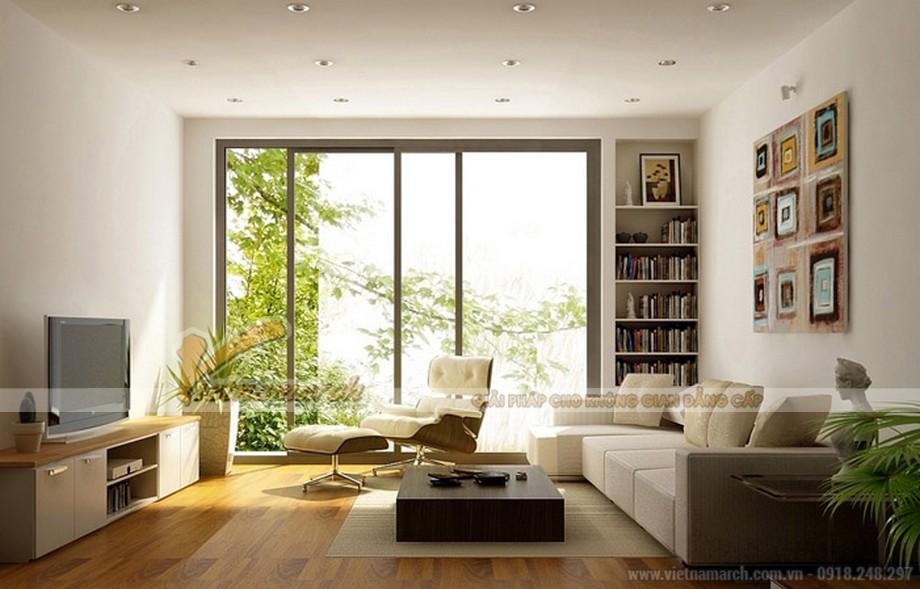 Ánh sáng trong suốt sẽ giúp phòng khách rộng rãi và thoáng đãng hơn