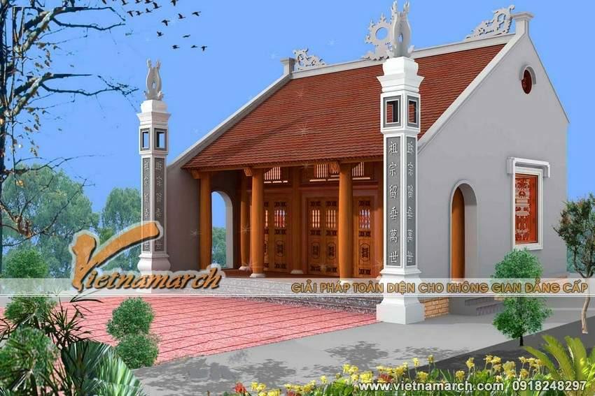 thiết kế nhà thờ họ chữ Đinh tại Nghệ An
