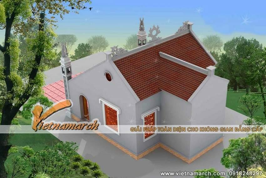 Phương án cải tạo thiết kế nhà thờ họ chữ Đinh của chú Học - Nghệ An