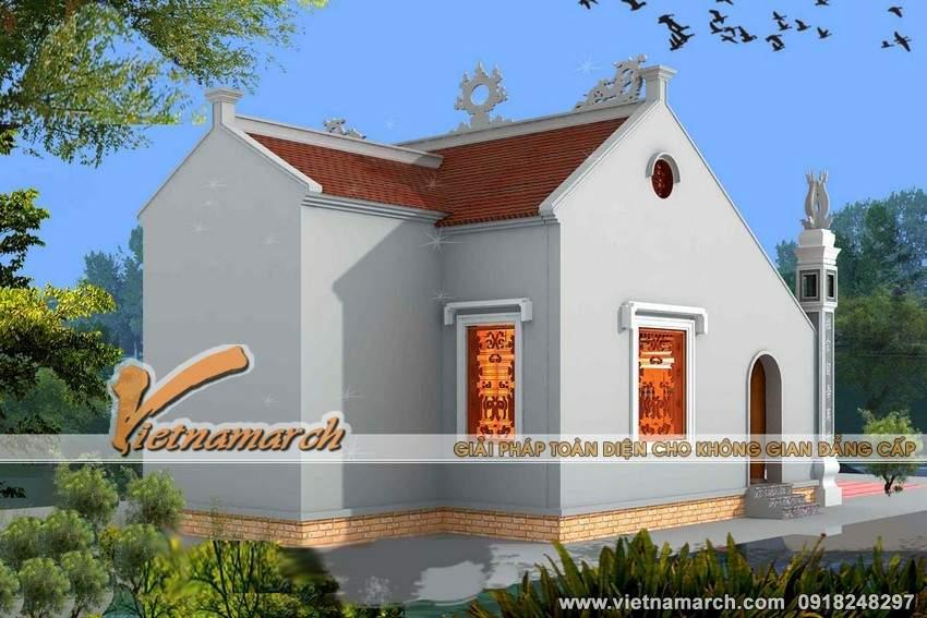 Phương án thiết kế nhà thờ họ chữ Đinh - Nghệ An thêm mát mẻ và thoáng đãng