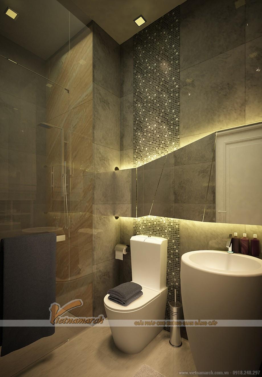 Vô cùng hiện đại và tiện nghi trong phòng tắm này