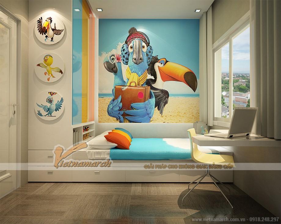 Phòng ngủ dành cho con được KTS Vietnamarch thiết kế thông minh, sinh động