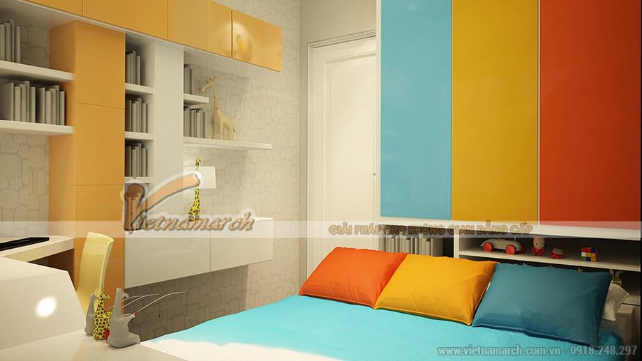 Màu sắc tươi vui cho phòng ngủ của trẻ