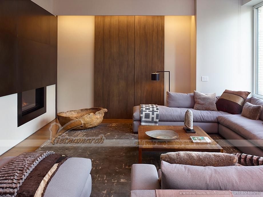 Phòng khách Penthouse với thiết kế nội thất thông minh ấn tượng