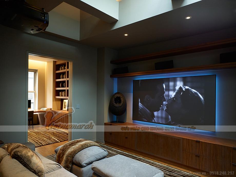 Phòng giải trí trong căn hộ penthouse