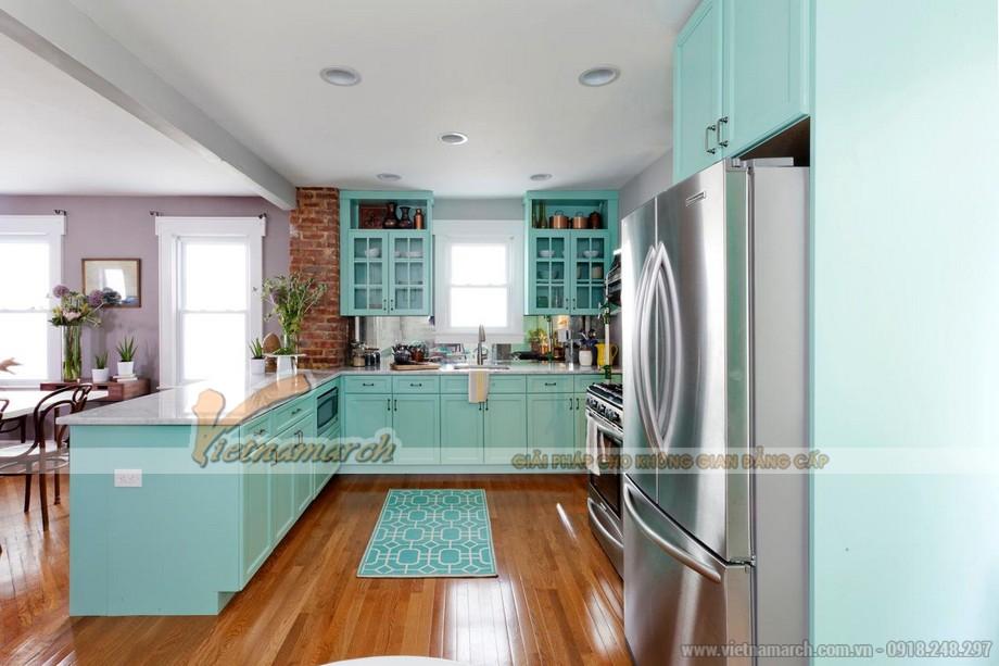 Nhà bếp biến hóa với màu sắc của tủ bếp gỗ cao cấp