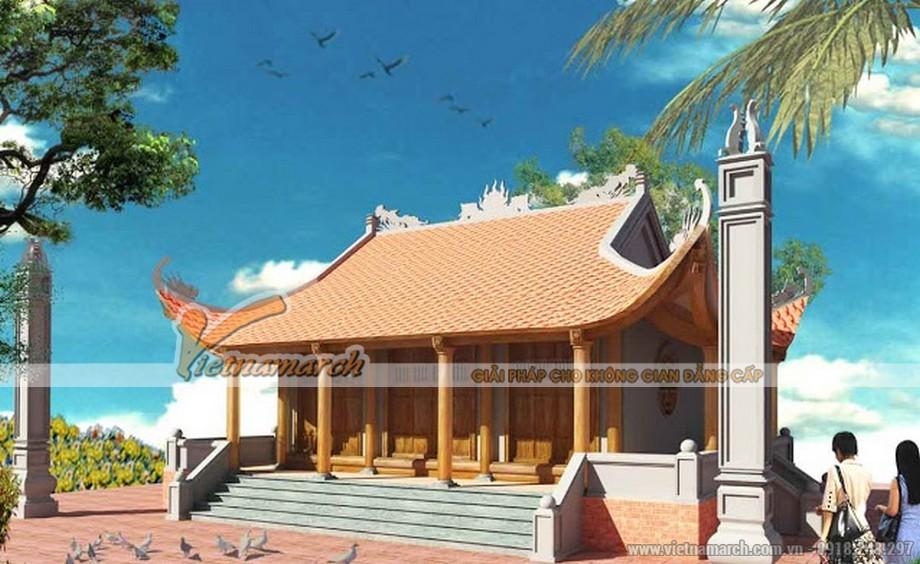 Thiết kế nhà thờ họ 4 mái tại Đông Hưng - Thái Bình