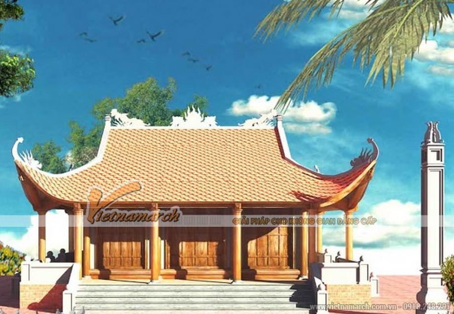 Mẫu nhà thờ họ 4 mái tại Đông Hưng - Thái Bình