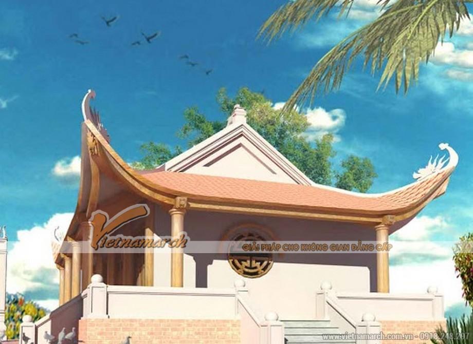 Kiến trúc 4 mái công đầu rồng, kết cấu bê tông giả gỗ là xu hướng thiết kế nhà thờ họ phổ biến