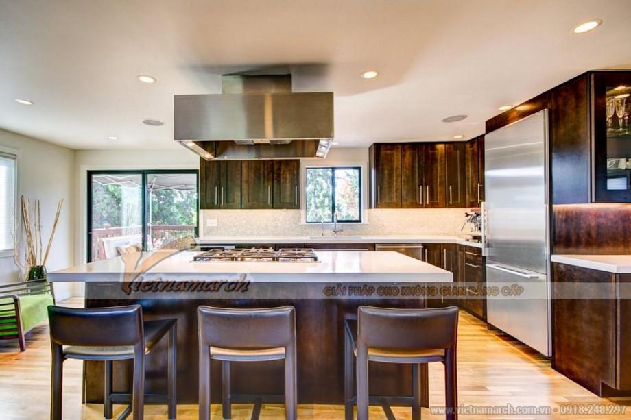 Những mẫu thiết kế tủ bếp gỗ cao cấp theo kiểu Á Đông