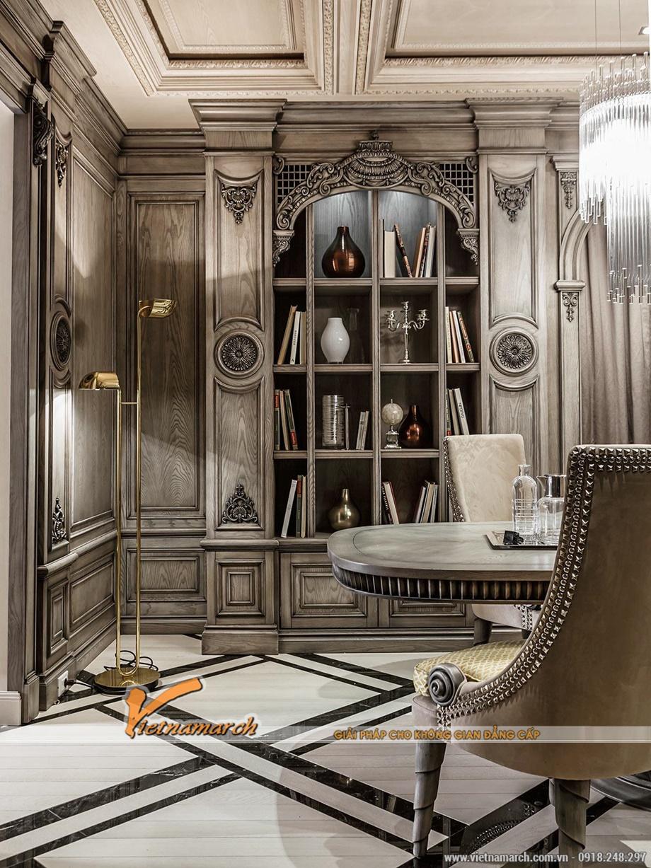 Tủ gỗ với nhiều chi tiết nội thất cao cấp