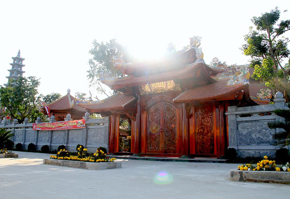 Diện tích tổng thể của nhà thờ họ Trần Triều Điện là 5.000 m2