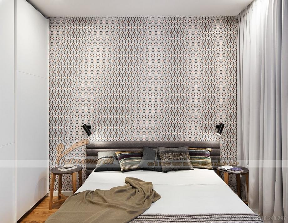 Phòng ngủ nhỏ thiết kế đơn giản, thanh lịch