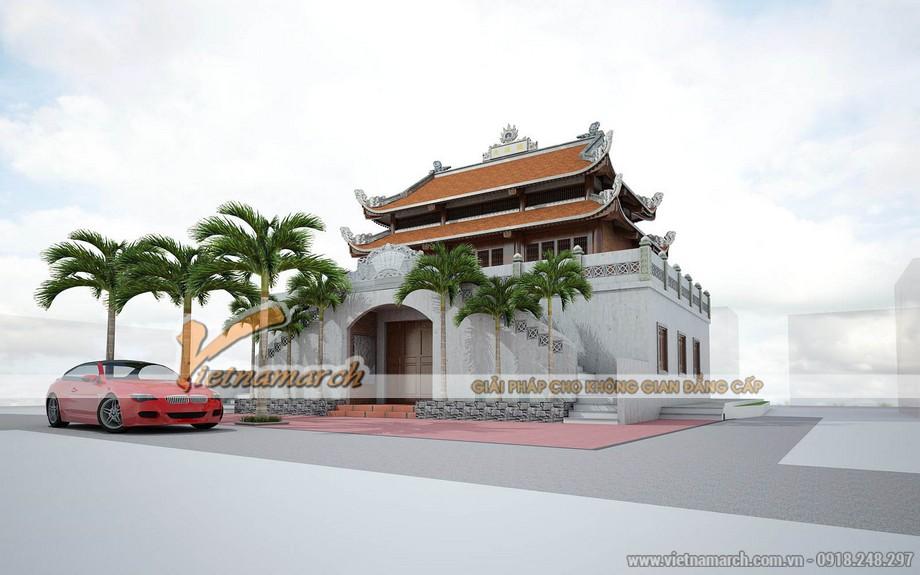 Thiết kế nhà thờ họ tại 2 tầng 8 mái tại Hà Tĩnh