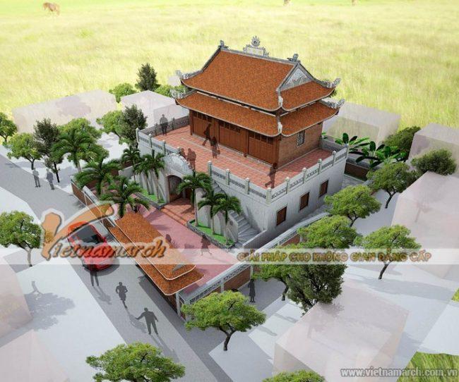 Mẫu thiết kế nhà thờ họ 2 tầng tại Hà Tĩnh