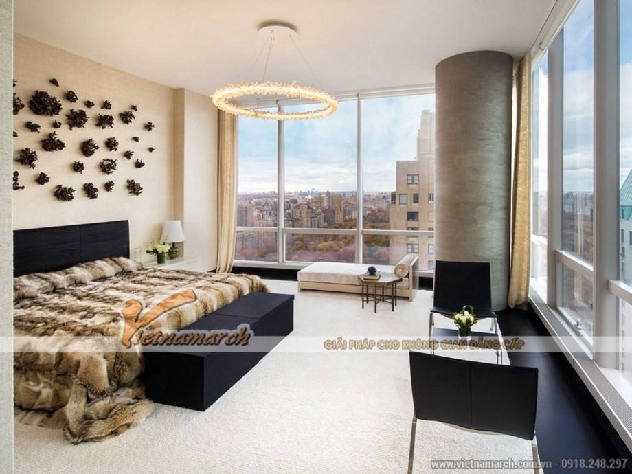 Thiết kế nội thất phòng ngủ trong căn hộ Penthouse hoàn hảo