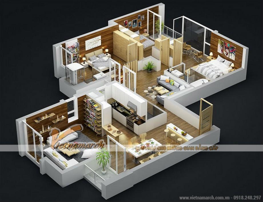 Mặt bằng điển hình của một căn hộ Penthouse