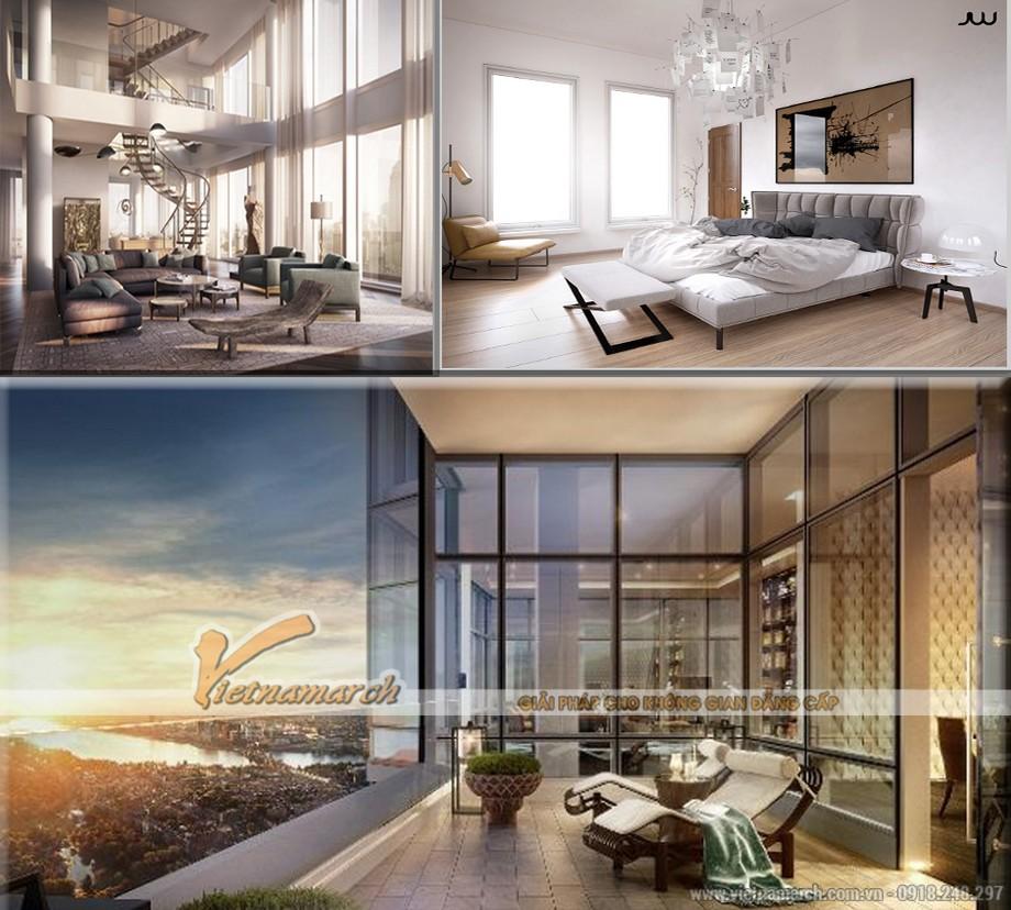 Hoàn hảo trong thiết kế nội thất căn hộ Penthouse