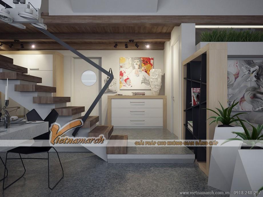 Cầu thang trong nhà được thiết kế đặc biệt là điều không thể thiếu trong thiết kế căn hộ Penthouse