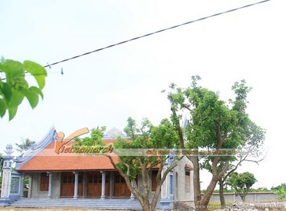Tổng thể mẫu nhà thờ họ 5 gian tại Kim Động- Hưng Yên.