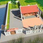 Thiết kế nhà thờ tổ kết cấu nhà bê tông giả gỗ tại Nghệ An