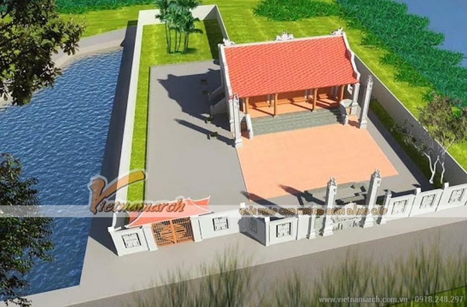 Thiết kế nhà thờ họ bê tông sơn giả gỗ tại Nghệ An