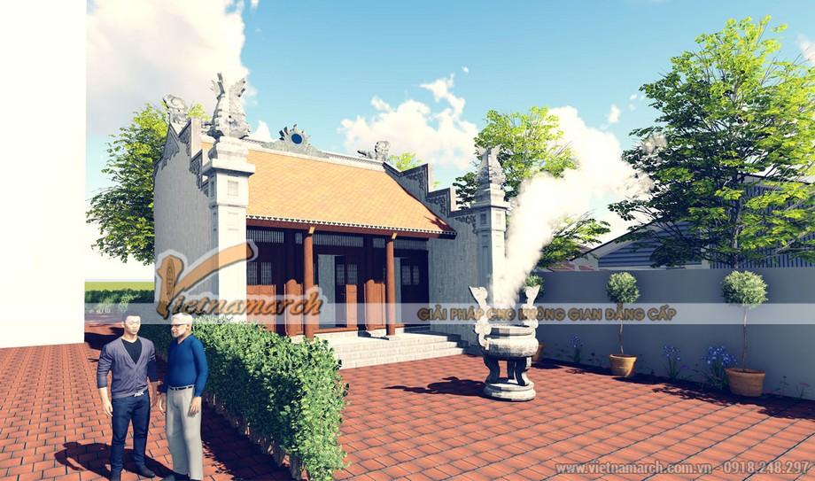 Mẫu thiết kế nhà thờ họ 3 gian 2 mái ở Ninh Bình