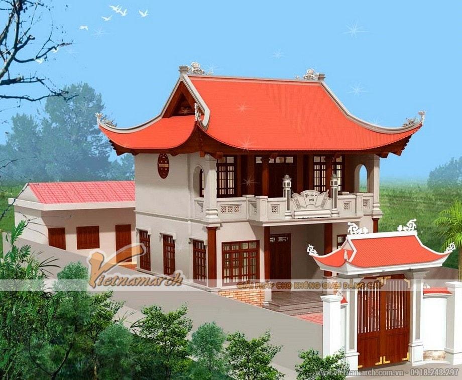 Mẫu nhà thờ họ hai tầng đẹp tại Hà Tĩnh