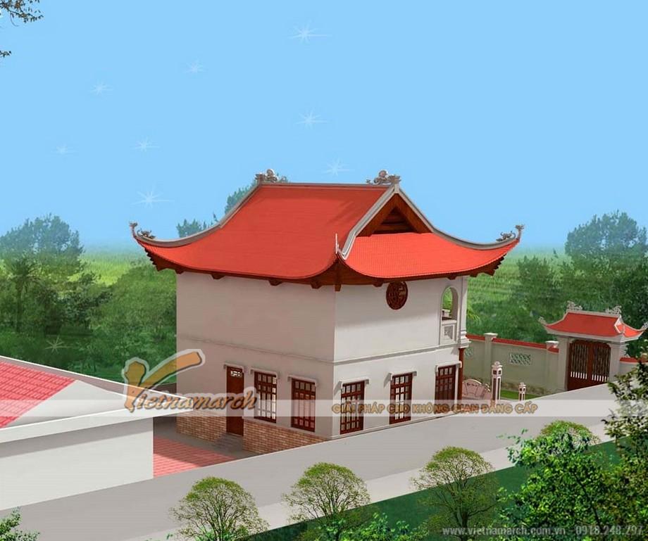 Mẫu nha tho ho 2 tầng khang trang tại Hà Tĩnh