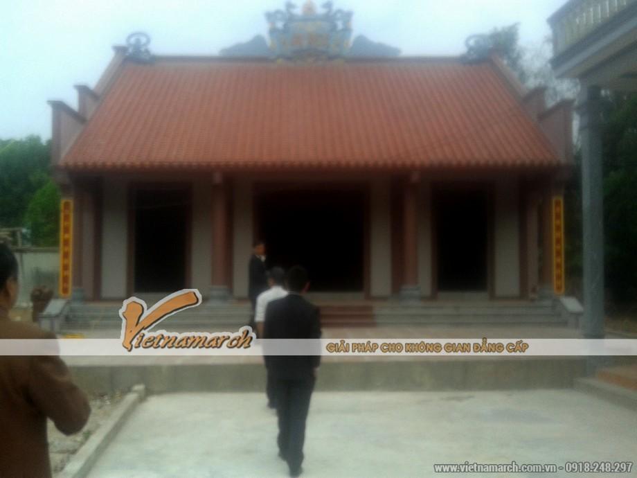 Thiết kế nhà thờ họ Gia Viễn - Ninh Bình theo kiểu 3 gian truyền thống Việt Nam