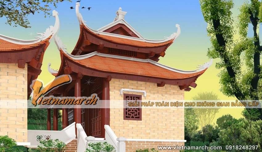 Thiết kế nhà thờ họ mặt bằng chữ Công tại Tứ Kỳ- Hải Dương-01