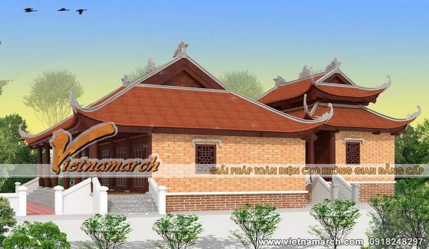 Thiết kế nhà thờ họ mặt bằng chữ Công tại Tứ Kỳ- Hải Dương-03