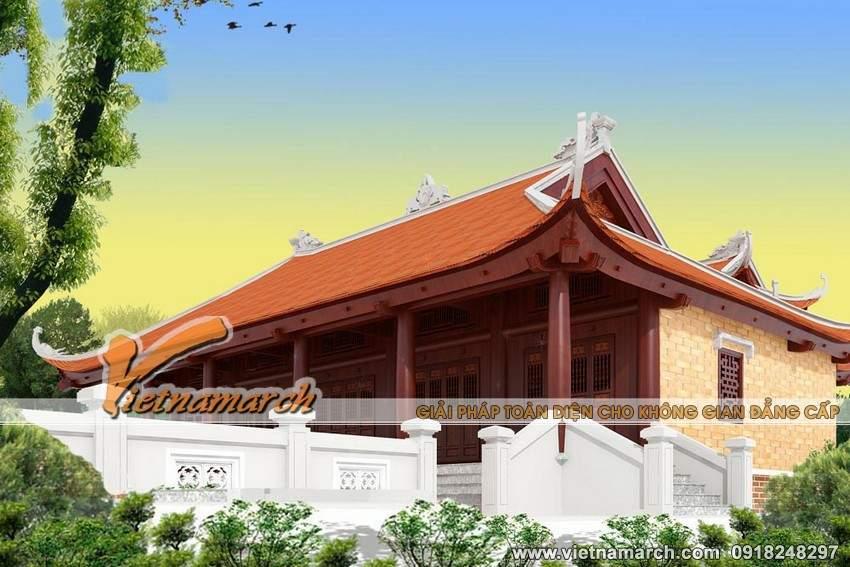 Thiết kế nhà thờ họ mặt bằng chữ Công tại Tứ Kỳ- Hải Dương-04