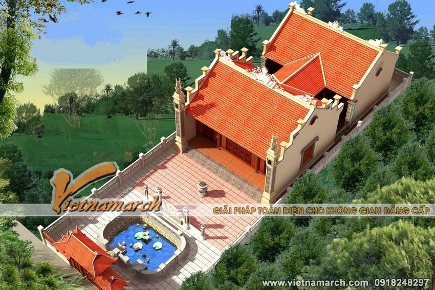 Mẫu nhà thờ họ mặt bằng chữ công tại Thái Bình
