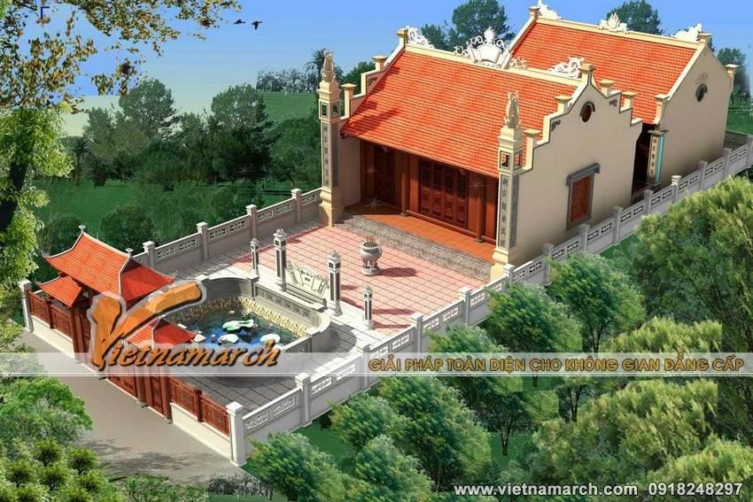 Thiết kế nhà thờ họ mặt bằng chữ Công tại Tiền Hải- Thái Bình-03