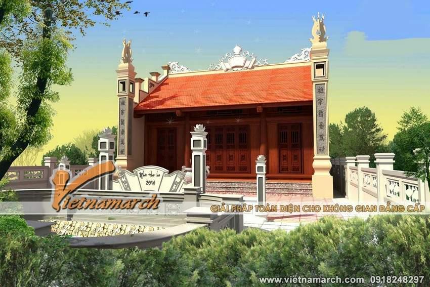 Thiết kế nhà thờ họ mặt bằng chữ Công tại Tiền Hải- Thái Bình-04