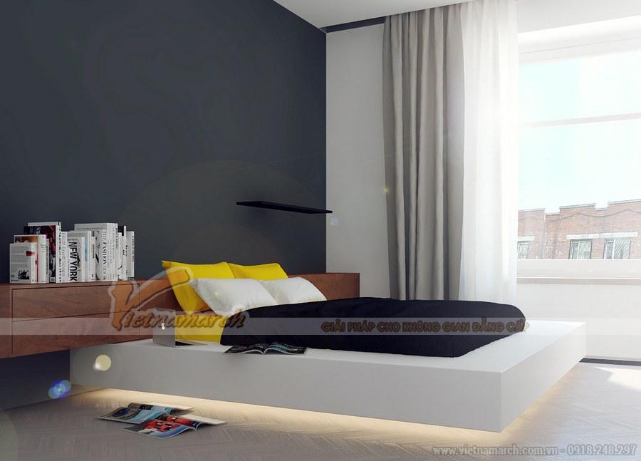 Hệ thống cửa sổ kính giúp tận dụng lượng ánh sáng tự nhiên và năng lượng nhiều nhất vào phòng ngủ