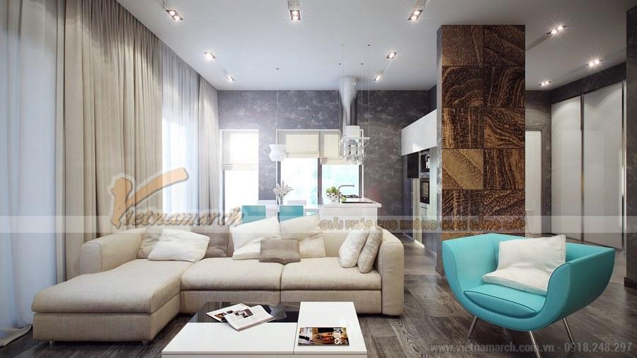 Thiết kế phòng khách cần những điểm nhấn màu sắc
