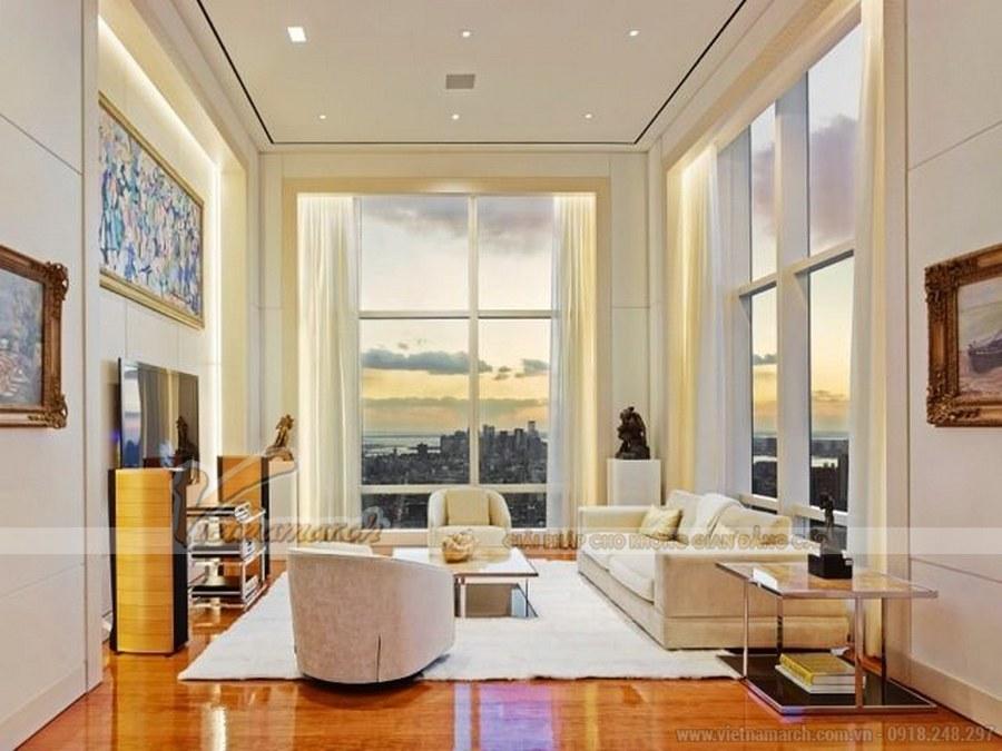 Một phòng sinh hoạt chung khác có view nhìn tyệt đẹp của căn hộ Penthouse