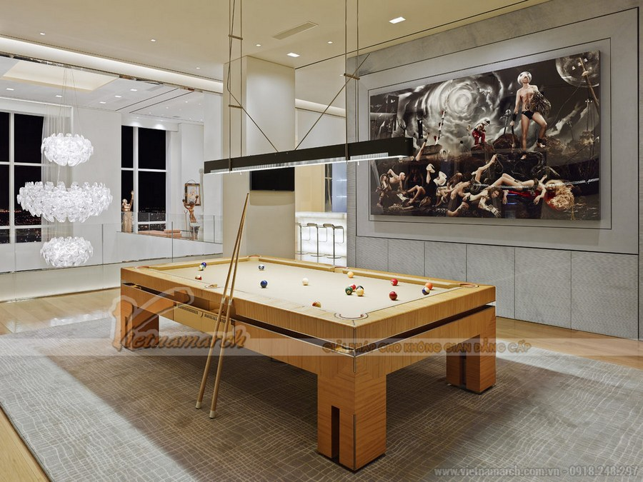 thiết kế căn hộ penthouse đẳng cấp, sang trọng