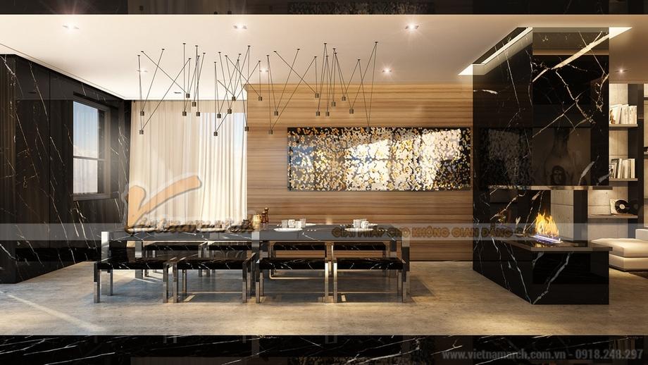 Thiết kế phòng bếp sang trọng đẳng cấp trong căn hộ Penthouse