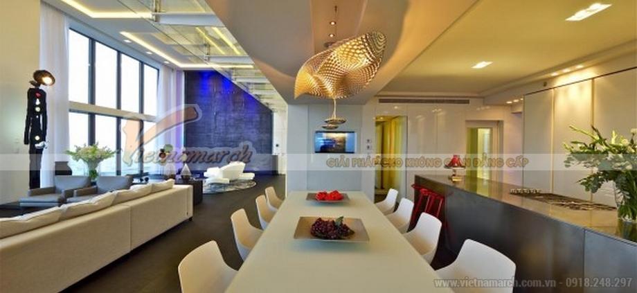 Thiết kế nội thất phòng ăn căn hộ Penthouse