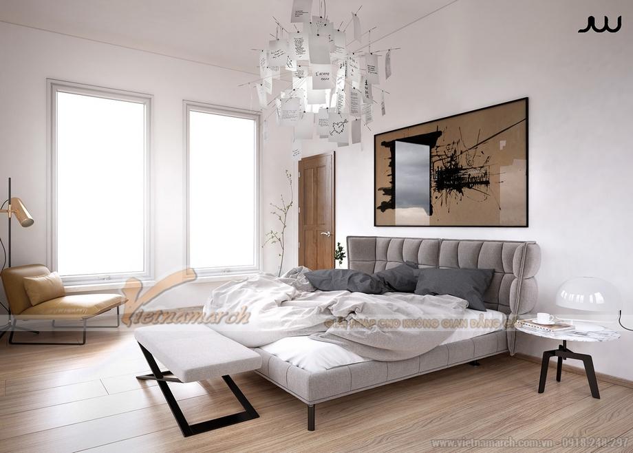 Phòng ngủ tràn ngập ánh sáng với hệ cửa sổ lớn